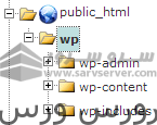 cPanel File Manager showing WordPress core files