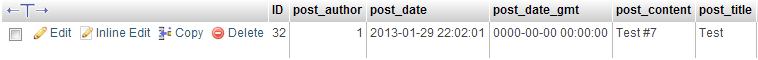 wordpress database showing wp_post_revisions off